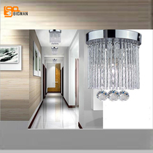 hot selling discount price round crystal lamp modern chandelier ceiling hallway corridor lights aisle lamp free shipping
