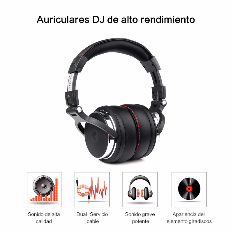 Professional Studio Headphones Wired with Microphone (3)
