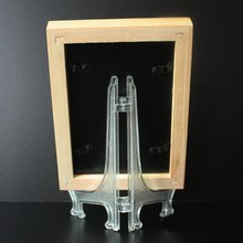 1Pc Clear Plate Ceramic Frame Display Rack Plate Bowl Picture Frame Easel Stand Photo Pedestal Holder P50(China)