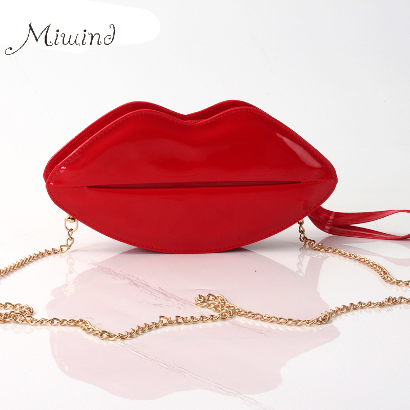 women bag handbags tote over shoulder crossbody sling summer leather Big Lips Clutch Evening Bolsas Red small girl bolsas purse<br><br>Aliexpress