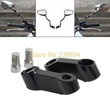 Universal M10 M8 CNC Aluminum 8mm 10mm Motorcycle Bike Mirror Mount Riser Extender Adapter For KTM Yamaha Kawasaki Scooter(China)