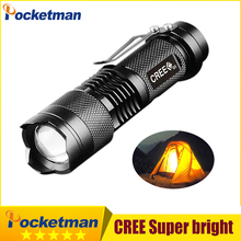 Mini lanterna 2000LM powerful led flashlight linterna Potente CREE Q5 Gladiator Flashlight 3Modes Zoomable Torch Penlight 94+1(China)
