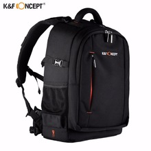 K&F CONCEPT Large Capacity Waterproof Camera Backpack Photo/Video/Laptop Bag Lens Case DSLR Bags Travel Knapsack For Canon Nikon(China)
