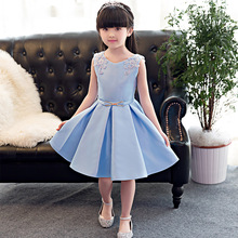Flower girl princess evening dress summer for size 2 3 4 5 6 7 8 9 10 11 12 years child birthday dress piano performance dress