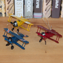 New Vintage Toys Airplane Model Metal Iron Handcraft Plane Aircraft Home Wedding Decoration Car Styling Handicraft