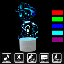 kinds Gift LED Lighting 3D Fire dog USB Bluetooth Speaker Night Lamp Music Table Nightlights as Home Decor Sleep Lampa IY803794