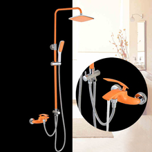 BAKALA Luxury colorful Bathroom rain  shower faucets  shower set with colorful hand shower BR-20171007