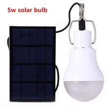 5w Solar Powered Portable Led Bulb Lamp Solar Energy Lamp led Lighting Solar Panel Camp Nightfair Travel Used 5-6hours