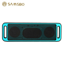 K812 Portable Bluetooth V2.1 Stereo Wireless Speaker Support Handsfree FM Radio AUX USB TF Card Mic for IOS Android Phone