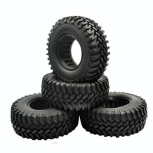 4pcs 100MM Rock Crawler Tires Tyre For 1/10 RC Off-Road Car RC4WD D90 D110 AXIAL SCX10 1.9 Inch Wheel Rim(China)