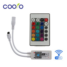DC12V LED WIFI RGB / RGBW Controller with 24key remote IOS/Android Mobile Phone wireless for RGB / RGBW LED Strip