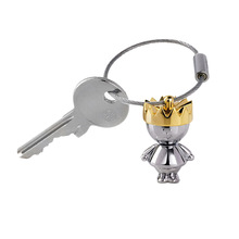 Little King & Little Queen Couple Keychain Creative Love Fashion Valentine Gift Key Chain Ring Keyring