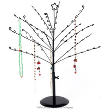 Fashion Metal Jewelry Display Tree Earring Hanging Rack Necklace Display Stand Bracelet Showcase Pendant Holder