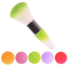2017 New Colorful Nail Tools Legal Brush Remove Dust Powder For Acrylic Nails And Nail Art Dust Cleaner Nail Brush(China)