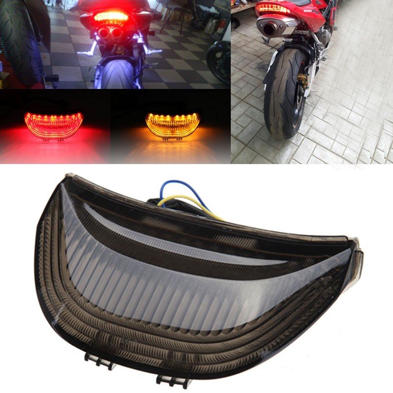 motorcycle parts LED Tail Brake Light Turn Signals for Honda CBR 600RR CBR1000RR RR Fireblade SMOKE<br>