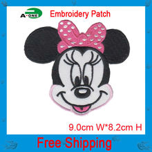 2016 newest minnie mouse embroidery parches stickers for clothes fabric butterfly decorations customed  logo patch