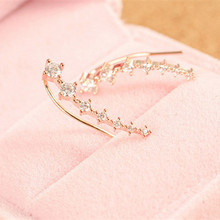 Couqcy Top Quality 2015 New 7pcs CZ Diamonds sliver Ear Hook Stud Earrings Jewelry hot sale 2 color