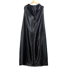 Black Halloween Costume Theater Prop Death Hoody Cloak Devil Long Tippet Cape for for halloween and fancy dress party Wholesale