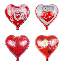 1PC 18inch LOVE balloon Mothers day heart shape Mama Aluminum foil balloons Mother festival Wedding baby party decoration globos