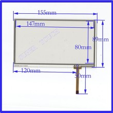 ZhiYuSun HLD-TP-1357 NEW6.2Inch Touch Screen155mm*88mm 4 wire USB touch panel overlay kit digital product 155*88 063018(China)