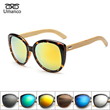 Umanco Vintage Bamboo Foot Sunglasses Men Women Wooden Sunglasses Brand Designer Original Wood Sun Glasses for Male Female(China)