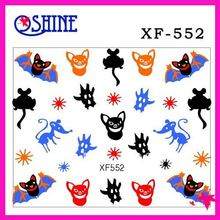 2017 latest style-30pcs different 3D nail seal designs Halloween stickers Nail Art Decoration