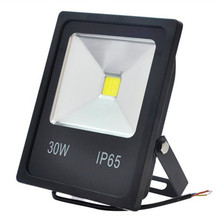 Led Flood Light Reflector 10w 20W 30W 50W 12v Black heat sink Waterproof Outdoor C0B Spotlight luminaire LED street Lamp color(China)