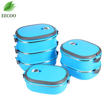 1-3 Layer Stainless Steel Japanese Bento Box Blue Thermal Lunchbox For Kid Picnic Food Storage Container Children Gift