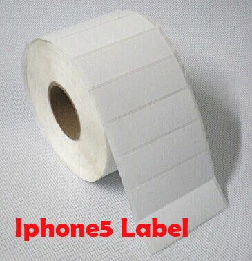 specialized mobile phone 5 black packaging box blank white Label paper  HS-6924(69*22mm*2000pcs)<br>