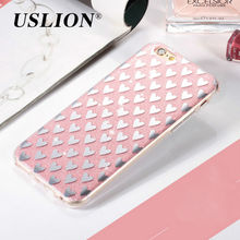 Cute Love Heart Bling Shinning Glitter Case For iPhone 7 Hard PC Phone Cases Back Cover Capa Coque For iPhone7 6 6s Plus 5 5s SE