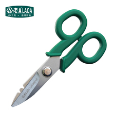 LAOA Multifunction Stainless Steel Scissors High Quality Electrician scissors for Brand Wire stripping Knife(China)