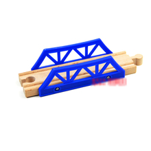 P046 Blue compatible with wooden Thomas the train track for wooden rail bridge electric rail cars game essential