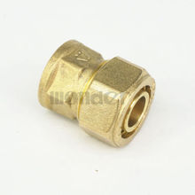 "16x20mm IDxOD x 1/2"" BSP Female PEX-AL-PEX Tube Straight Brass Compression Pipe Fitting Connector For Floor Heating(China)"