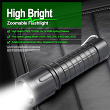 Bike Bicycle Torch Light XML T6 LED Zoomable 18650 Flashlight Rechargeable Clip 5000LM Torch Light Lamp Hiking Camping A1(China)