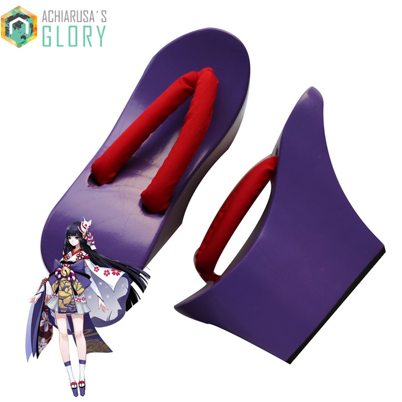 Women sandals Heel flip-flops Onmyoji Anime Cosplay costumes shoes 2017 Summer Sandals Japanese Geta Clogs for female WMGT-180<br><br>Aliexpress