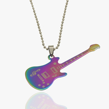 2017 Fashion Classic Music Character Note Guitar Pendant Necklaces Stainless Steel Couple Sweater Chain Choker Necklace Jewelry