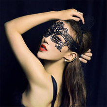 Fashion Stylish Sexy White Black Lace Mask For Lady Women Halloween Masquerade Party CC0261(China)
