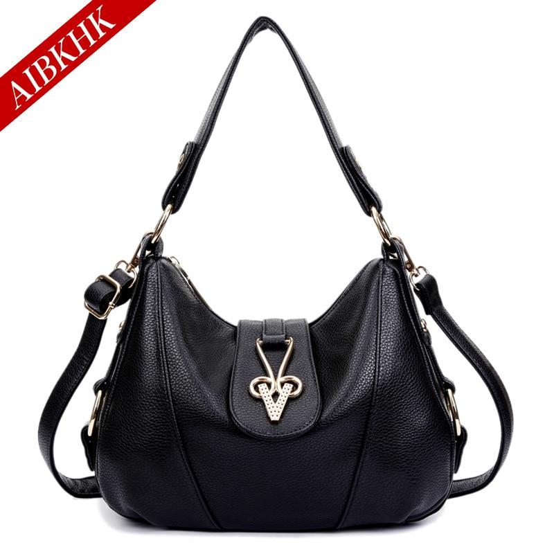 AIBKHK Luxury Handbags Women Bags Designer Shoulder Bag Casual Female Genuine Leather Small Bag Messenger Bags for Women 2017<br>