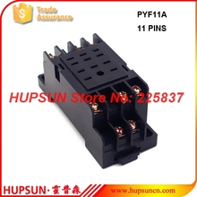 PYF11A relay socket (10pcs/lot) HH53P my3 relais socket 11 pin mini electromagnets rele base holder