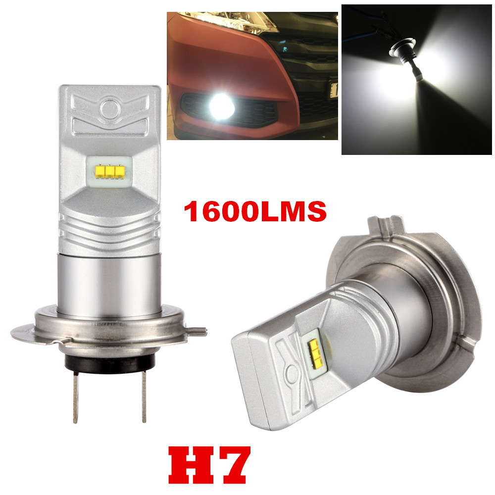 2Pcs High Power 80W Lumileds Chip H7 PX26D Super Bright 6000K Xenon White LED Lights Bulbs Best for Auto Fog Light Lamps 1600LMS<br><br>Aliexpress