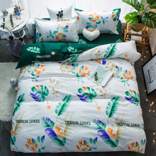 4pcs bedding cotton set super king duvet cover set Fashion bed sheet grey polyester duvet cover 5size Adult bed linens bed cover(China)