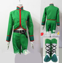 Hunter X Hunter Gon Freecss Cosplay Costumes with shoe covers full set for Party Customized