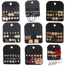 Christmas Gift Cute Stud Earring Sets 9 Pairs Round Square Ball Alloy Crystal Stud Earrings For Women Friend Love Cross Earring