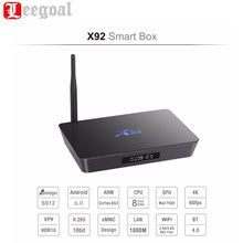 X92 Amlogic S912 Octa Core Android 6.0 Smart TV Box 2G+16G 4K KODI 16.1 Wifi Mini Set Top Box Bluetooth 4.0 3D Media Player
