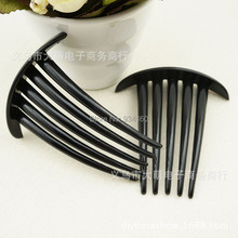 30PCS 82x72mm LARGE Black plastic headband hair comb with top plate accessories