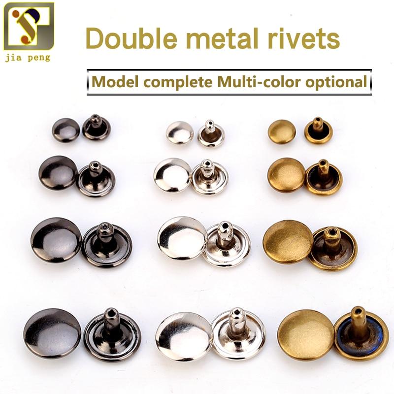 Leather Rivets single cap tubular head craft decorate repair black silver gold