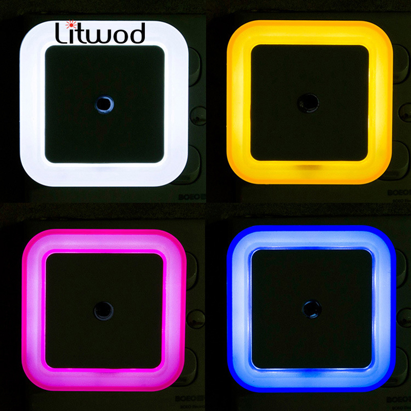 Litwod Z10 LED Bedroom night light baby lights kids beside wall lamp Romantic for children with motion auto Sensor home lights