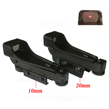 Hot Sale Tactical Reflex sight Red Dot Sight Scope Wide View Airgun 10 or 20mm Weaver Rail Mounts1x20x30 Riflescope Airsoft