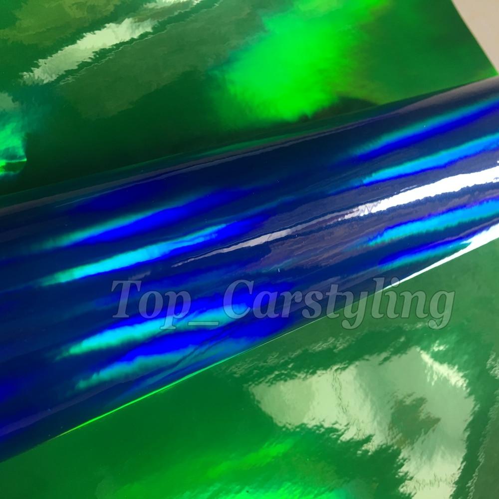 Dark Blue holographic chrome vinyl sticker wrap sheet 3M Avery Arlon Vinyl Sticker foile wrap sheet (2)