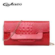 Gykaeo Hot Selling Women Envelope Clutch Bag Leather Women Crossbody Bags for Women Handbag Messenger Bag Female Ladies Clutches(China)